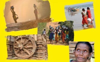 Projection sur la région de l'Orissa en Inde
