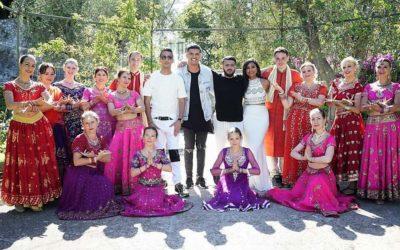 Tournage d'un clip avec Souf, Adnan, DJ Meyz et Sophia Akkara