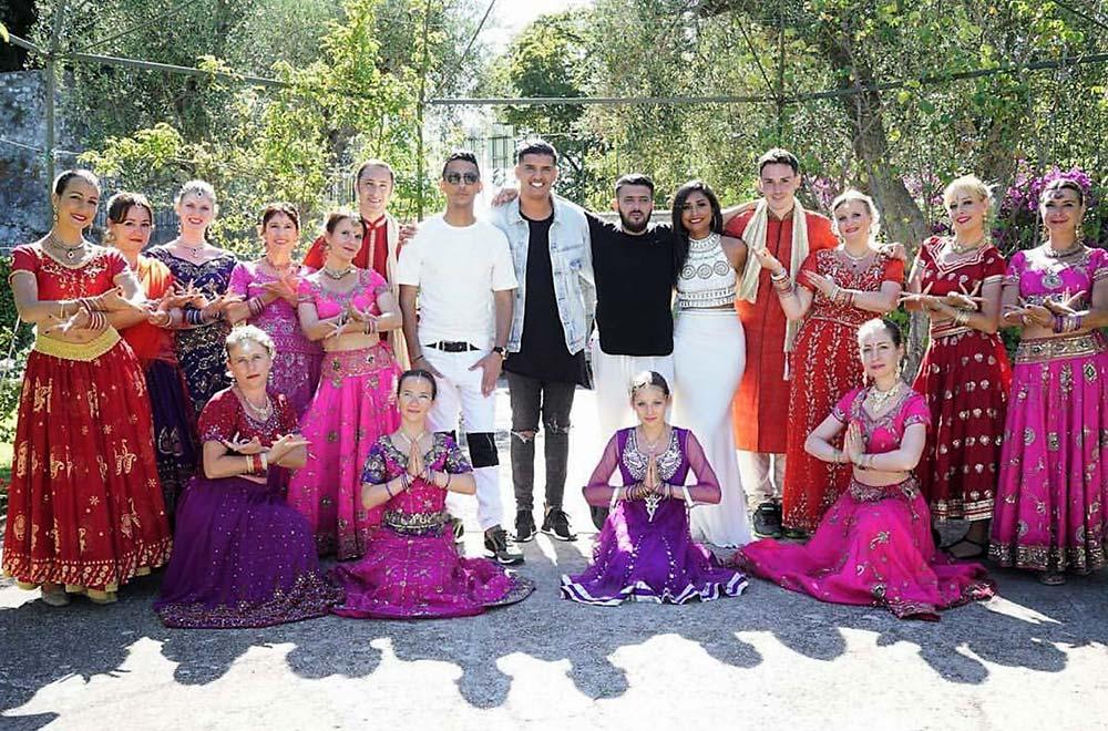 La troupe Navrasa avec Souf, Adnan, DJ Meyz et Sophia Akkara