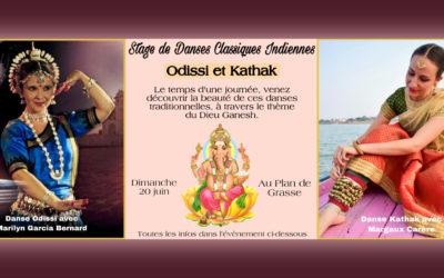 Stage de danses classiques indiennes Odissi et Kathak le 20 juin