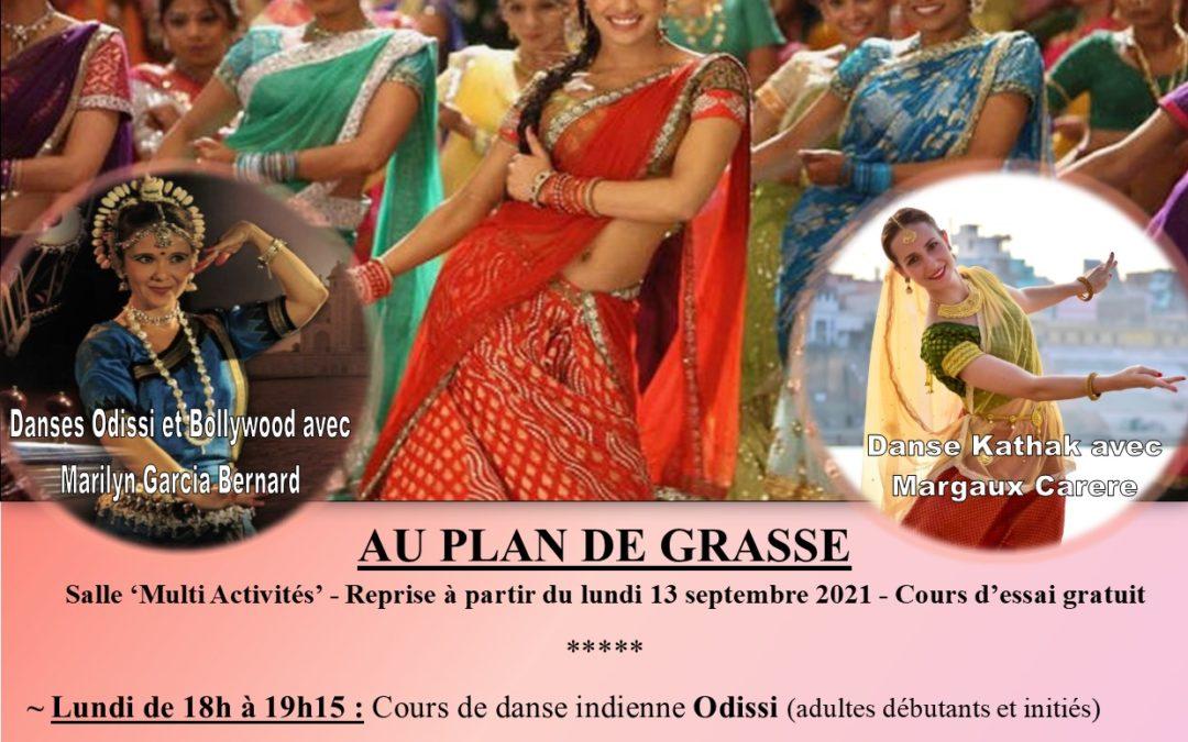 Reprise des cours de danses indiennes : Bollywood- Odissi -Kathak