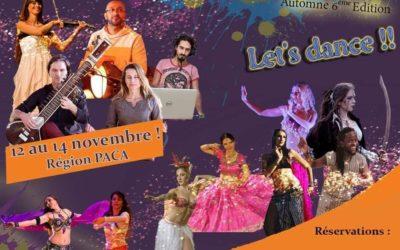 Festival danse du monde et yoga les 12, 13 et 14 novembre dans le 13 !