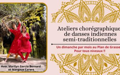 Ateliers chorégraphiques mensuels de danses indiennes semi-traditionnelles